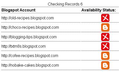 Blogspot Checker Result