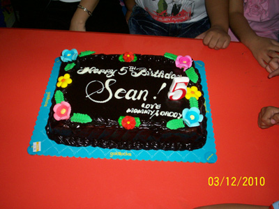 Sean's 5th birthday cake