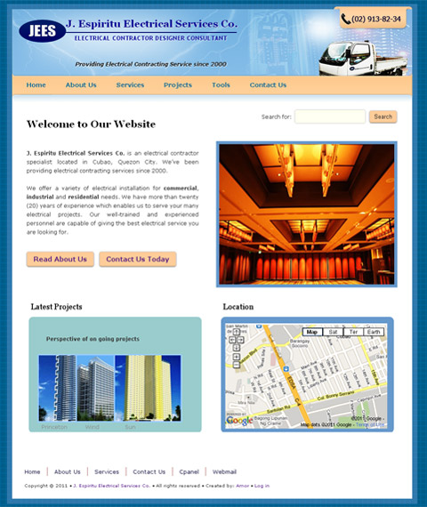electrical construction website