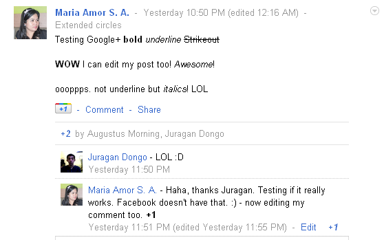 Trying out Google+