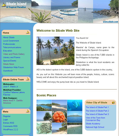 Sibale Beach Template – New WordPress Theme