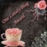 One lovely blog award from Marlene