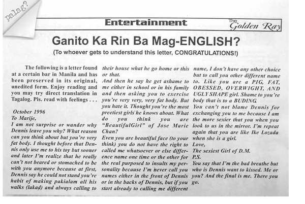 Ganito ka rin ba mag English?
