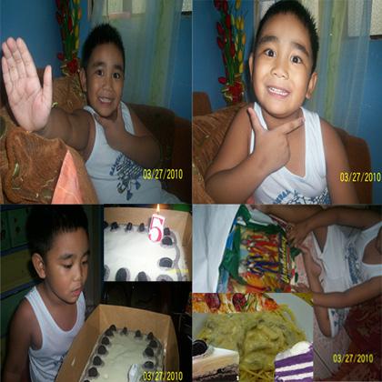 Sean's 5th birthday on March 27