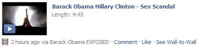 barack obama hillary clinton scandal facebook virus