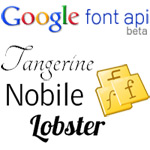 Playing Around with Google Font API