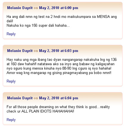 melanie dayrit's comments