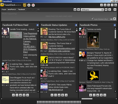 TweetDeck Facebook