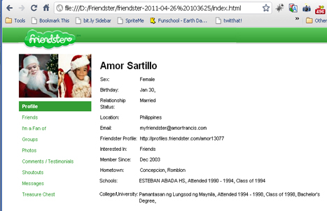 friendster profile downloaded