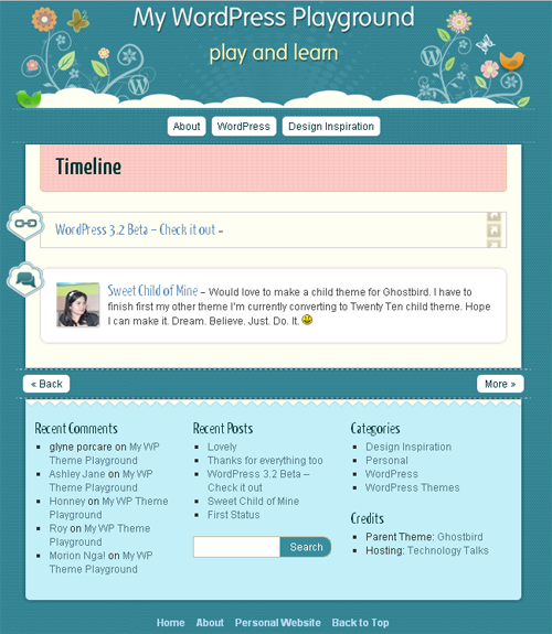 WP theme playground screenshot