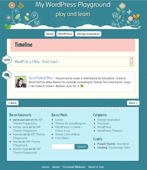 WP theme playground screenshot