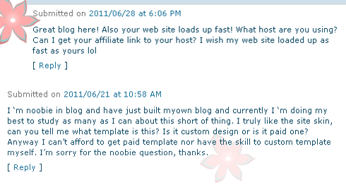 Flatter Spam, not at all flattering!