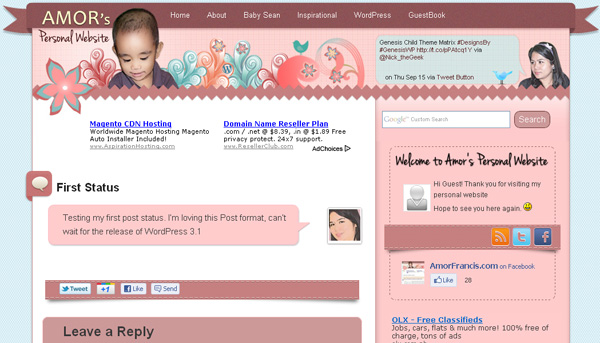 Design for Status post format