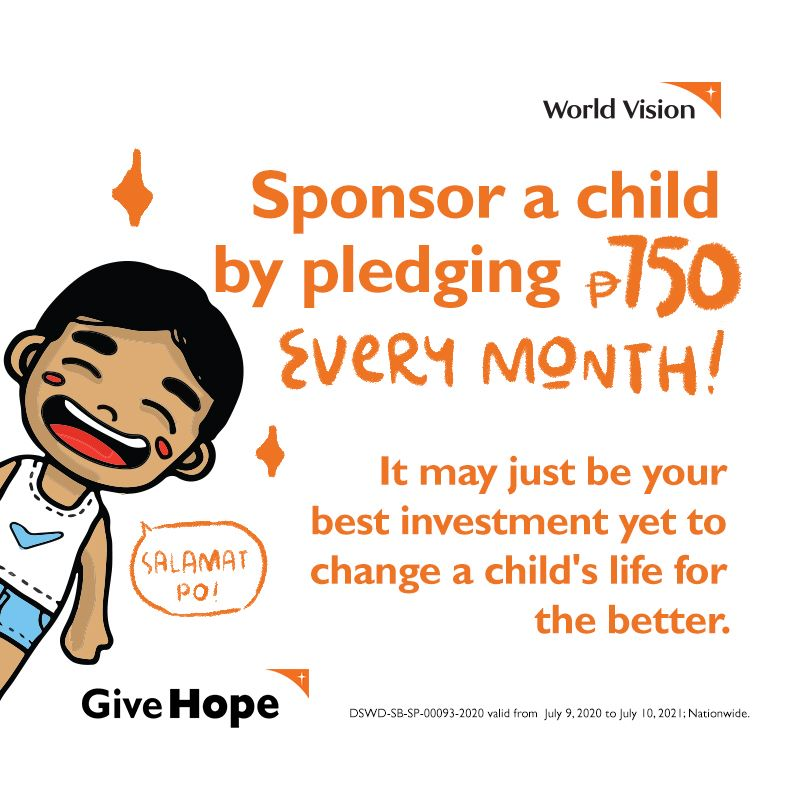 Be a child sponsor. Pay it forward.