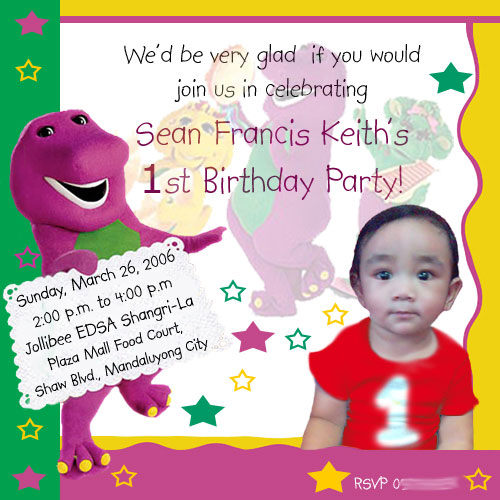 Jollibee birthday party invitation cogimbo party planning for yuri s 6th birthday the adventures of bogzy stopboris Images