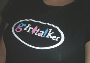 Me wearing the GirlTalker Tee